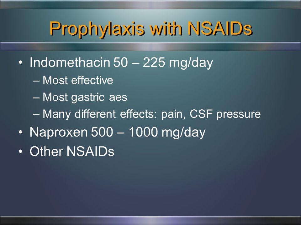 Migraine Prevention Classes of preventive drugs: –Anticonvulsants –Antidepressants –Beta-blockers –Calcium channel blockers