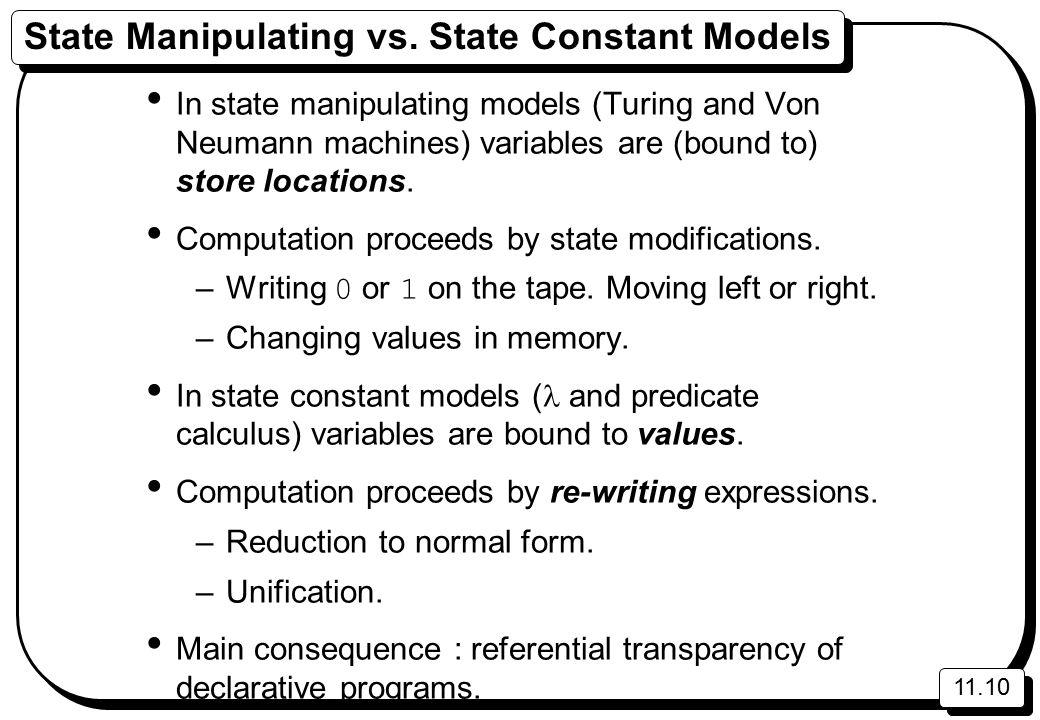 11.10 State Manipulating vs.