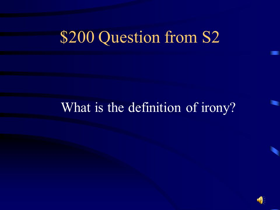 $100 Answer from S2 Horribly good