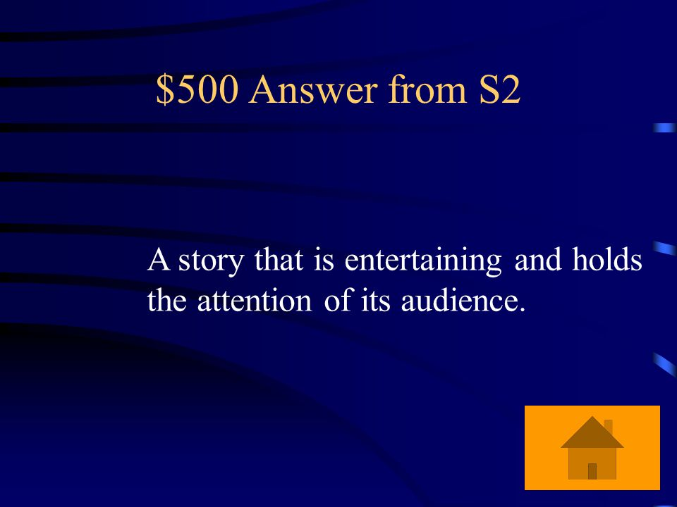 $500 Question from S2 What is a good story according to the bachelor