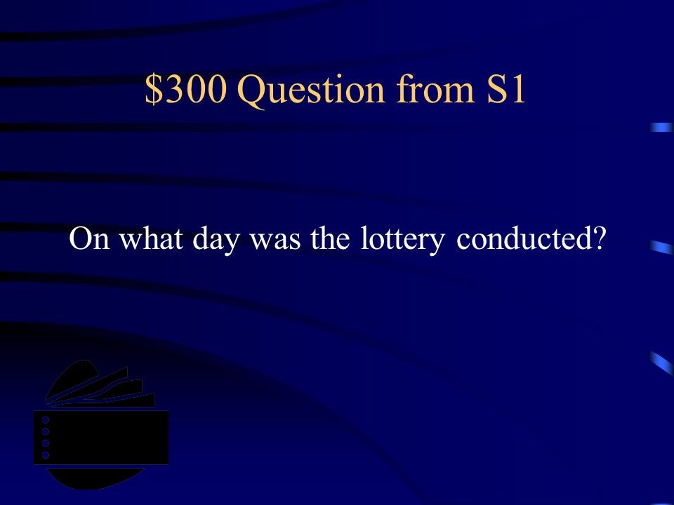 $300 Question from S4 Who has this special characteristic besides Jerry?