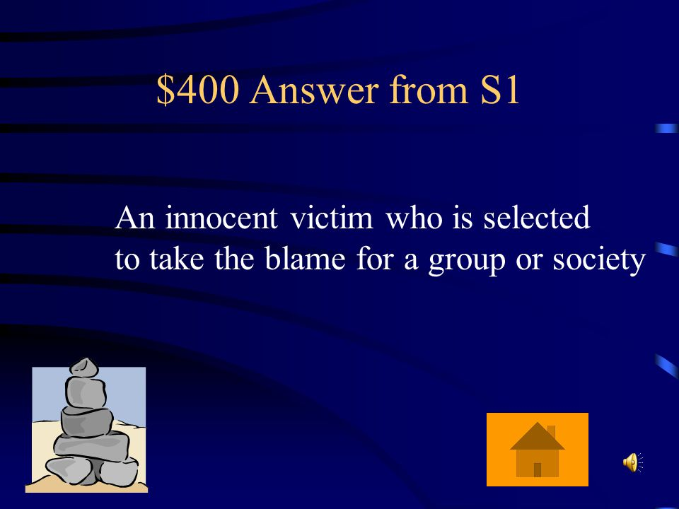 $400 Answer from S5 A piece of prose or poetry that pokes fun, ridicules, or derides a human frailty or vice.