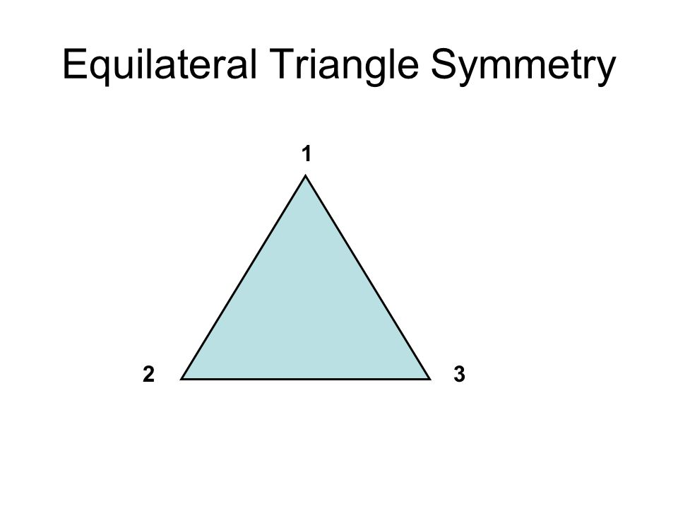 Equilateral Triangle Symmetry 1 32