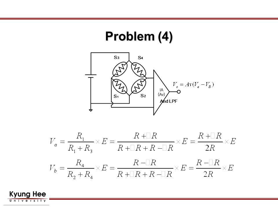 S1S1 S4S4 S3S3 S2S2 And LPF Problem (4)
