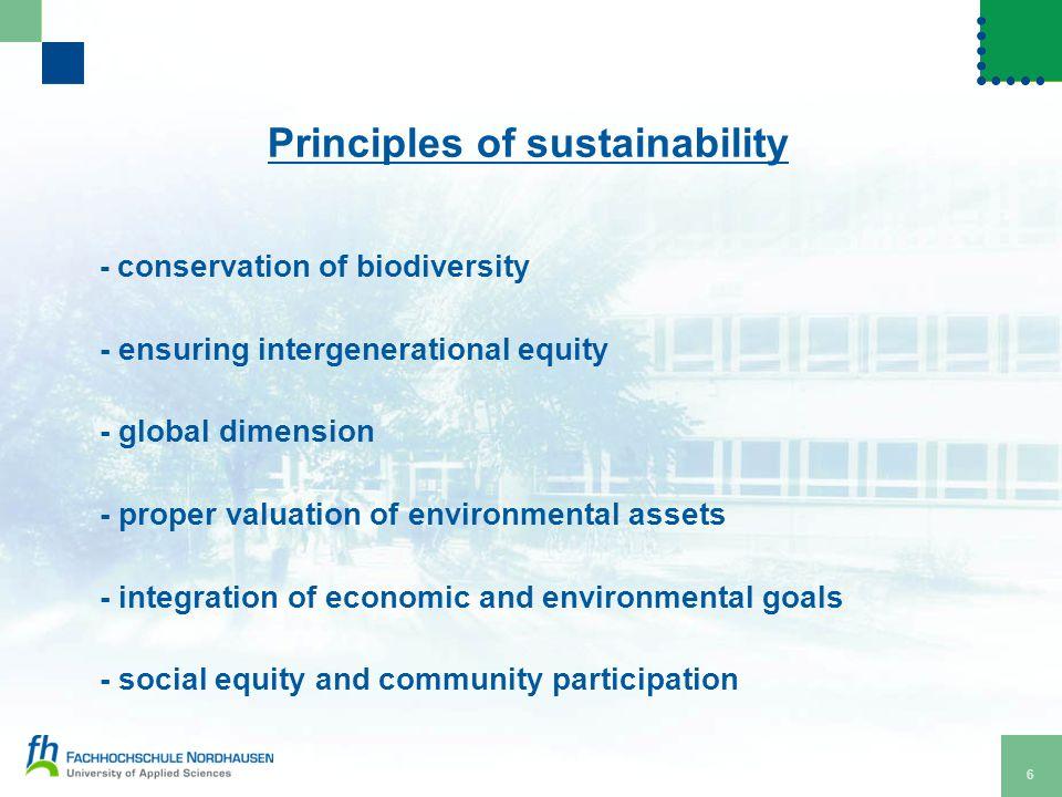7 Three main fields of sustainability Financial stability
