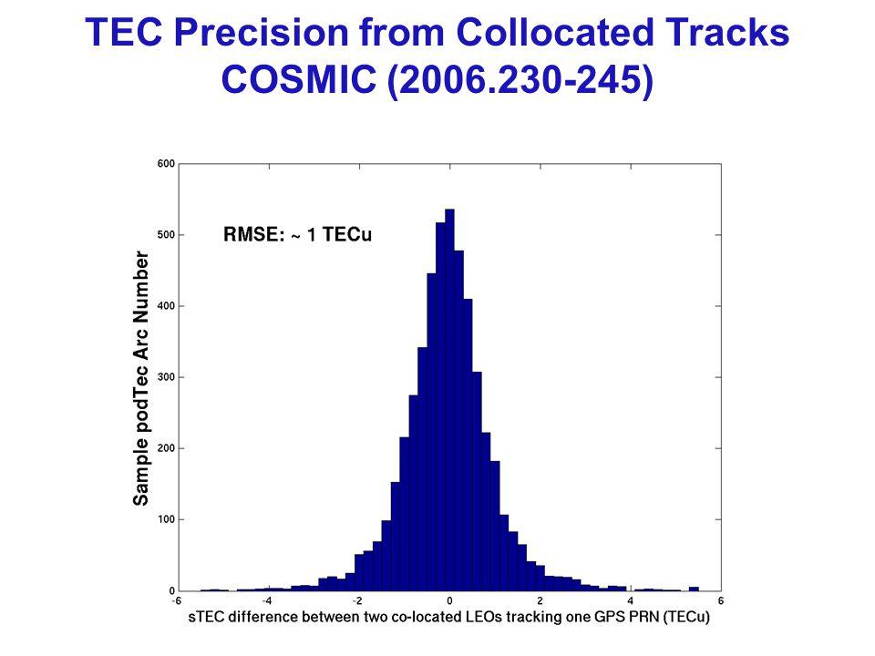 TEC Precision from Collocated Tracks COSMIC (2006.230-245)