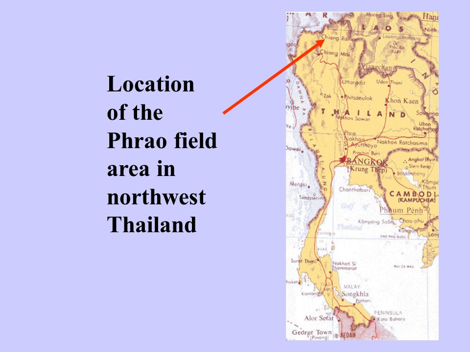 Location of the Phrao field area in northwest Thailand