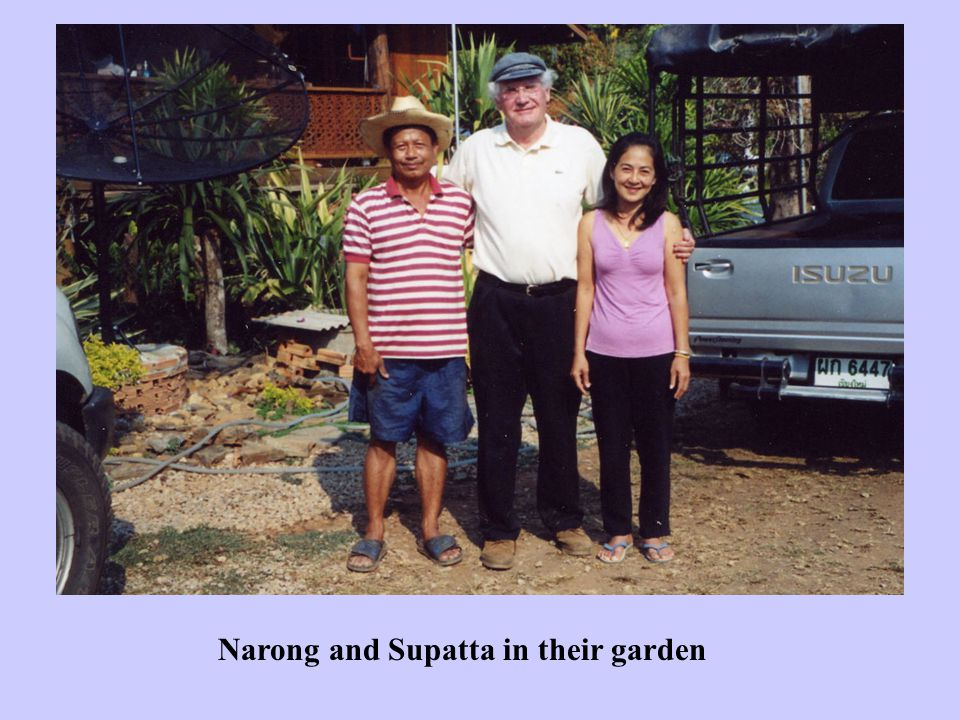 Narong and Supatta in their garden