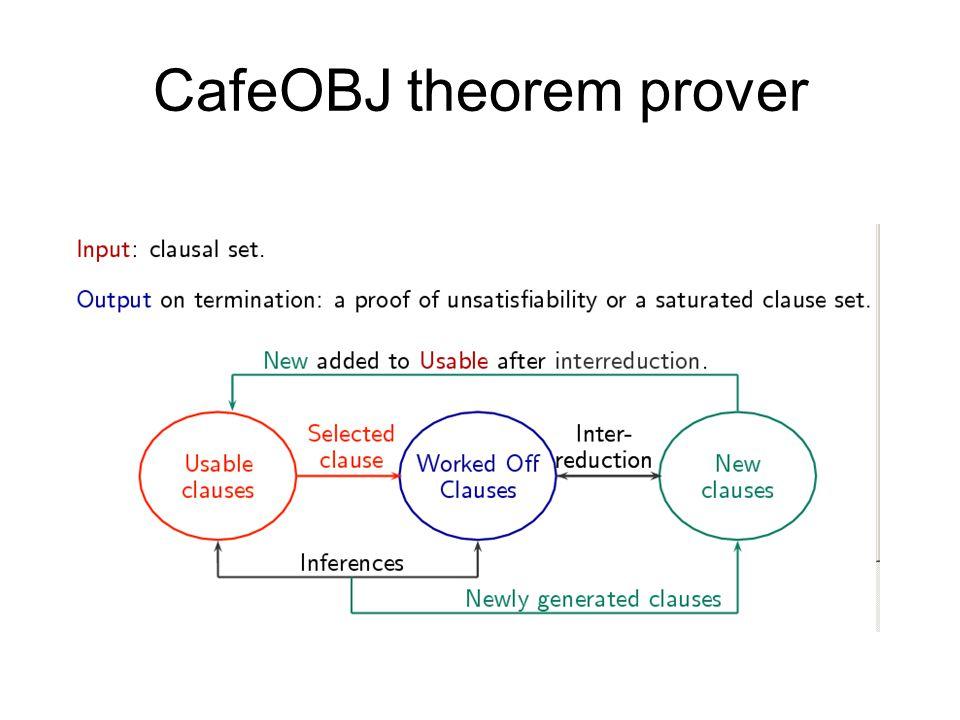 CafeOBJ theorem prover