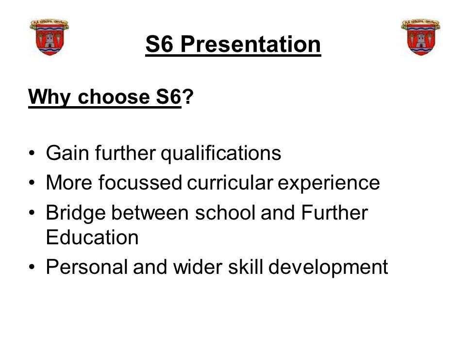 S6 Presentation Why choose S6.