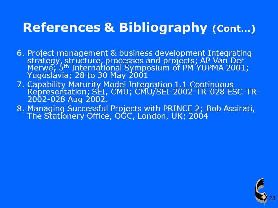 23 References & Bibliography (Cont…) 6.