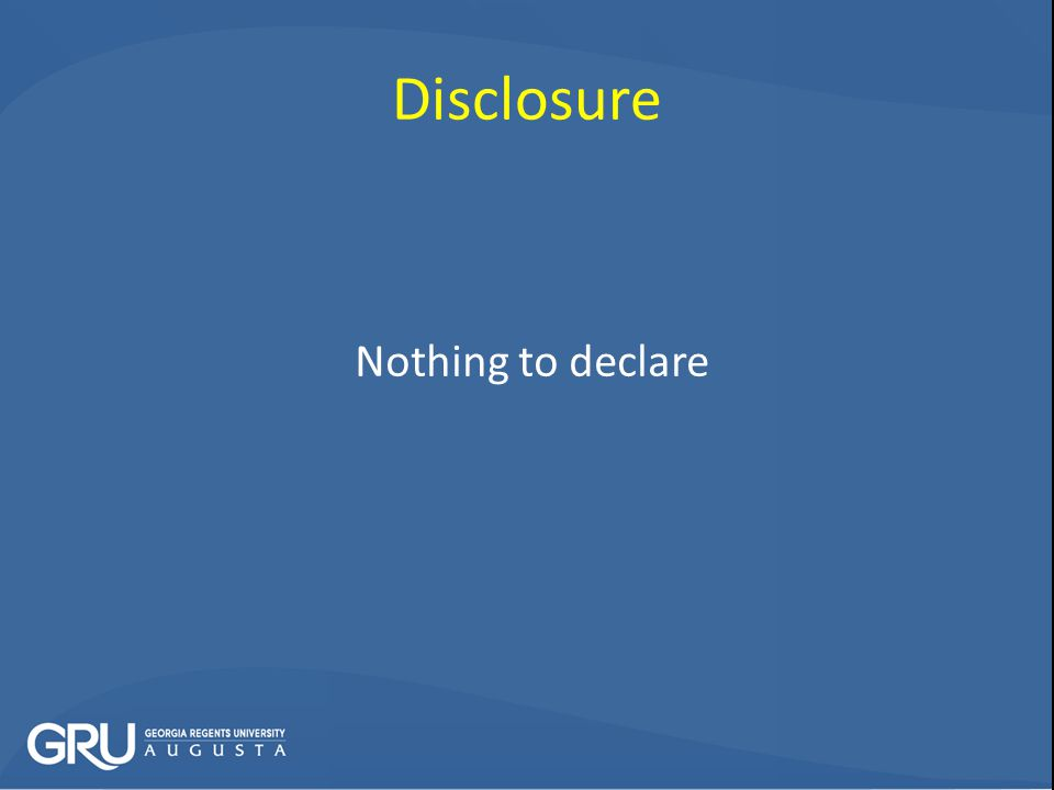 Nothing to declare Disclosure