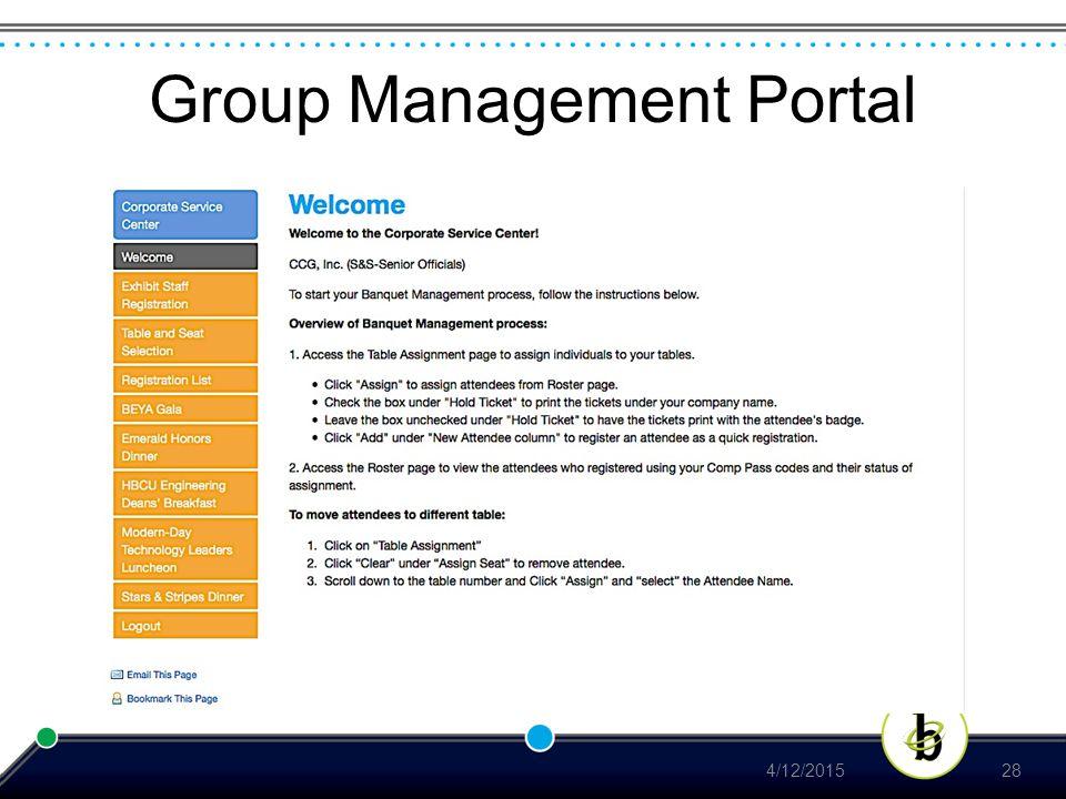 Group Management Portal 4/12/201528