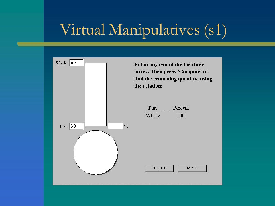 Virtual Manipulatives (s1)