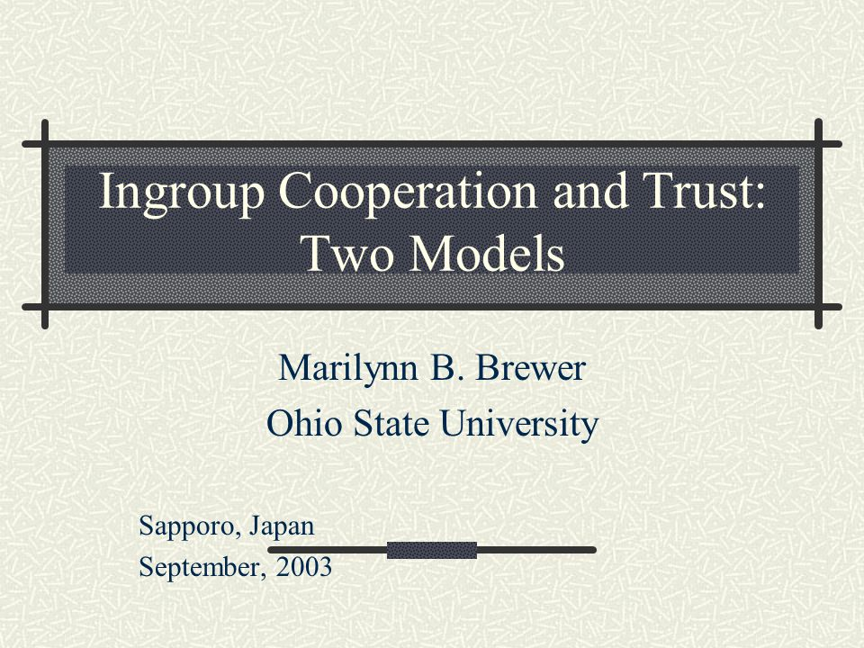 Brewer & Kramer (1986) Effects of collective identity salience on cooperation in a resource dilemma: An anomaly