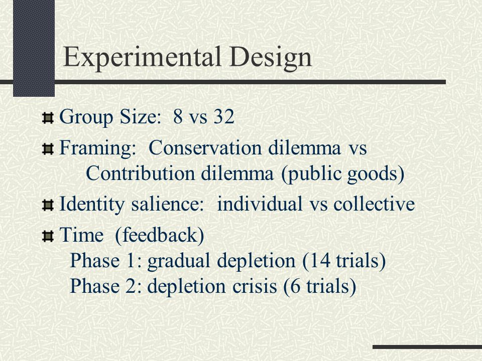 Social Value Orientation and the Ingroup Effect in Social Dilemmas (DeCremer & vanVugt, 1999) Ingroup Salience