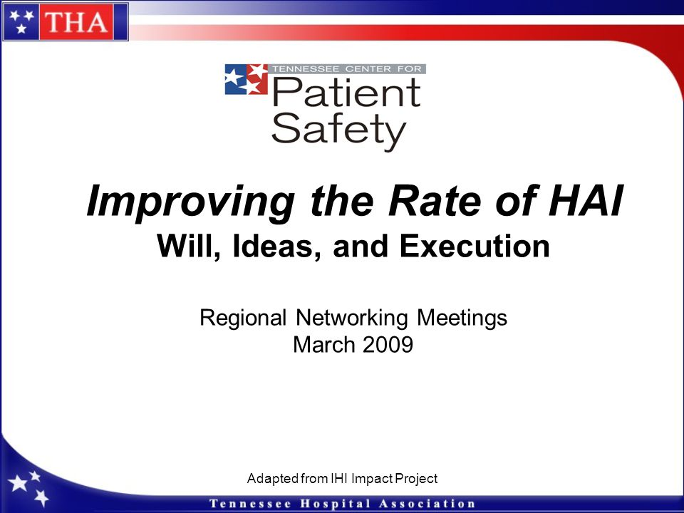 HAI Change Package Secondary DriverIdeas for PDSA Testing Suggested mini-measures for PDSA testing S5.