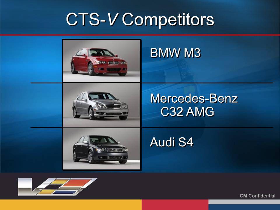 GM Confidential BMW M3 Mercedes-Benz C32 AMG Audi S4 CTS-V Competitors