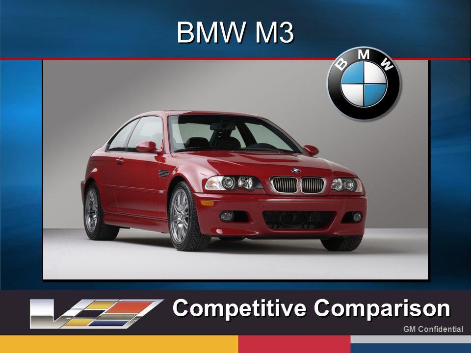 GM Confidential BMW M3 Competitive Comparison