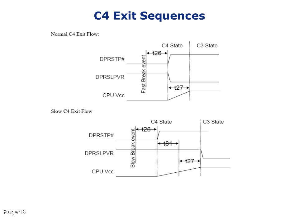 Page 18 C4 Exit Sequences