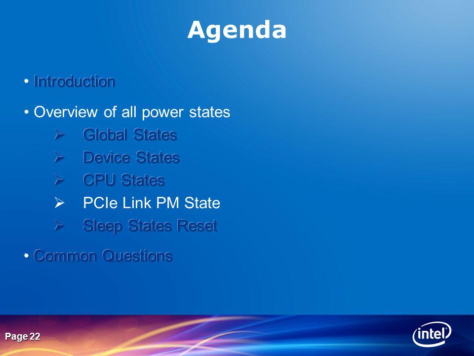 Page 22 Agenda