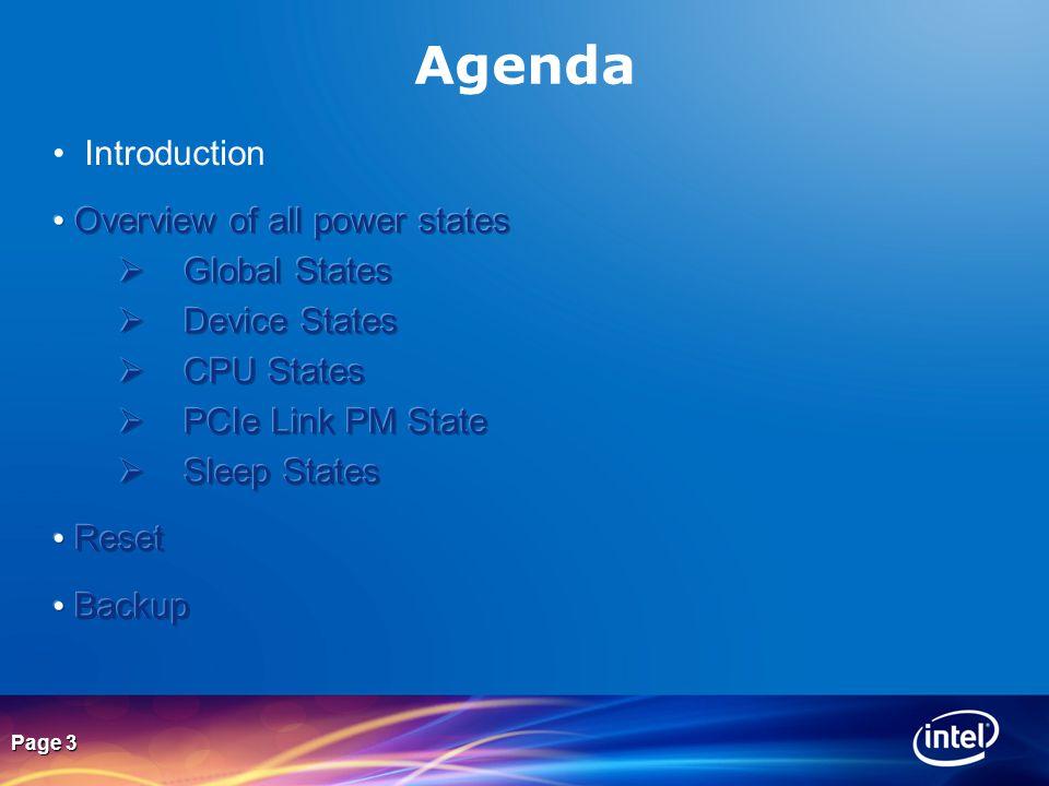 Page 3 Agenda