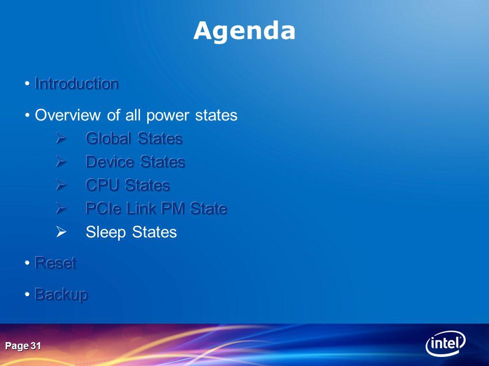Page 31 Agenda