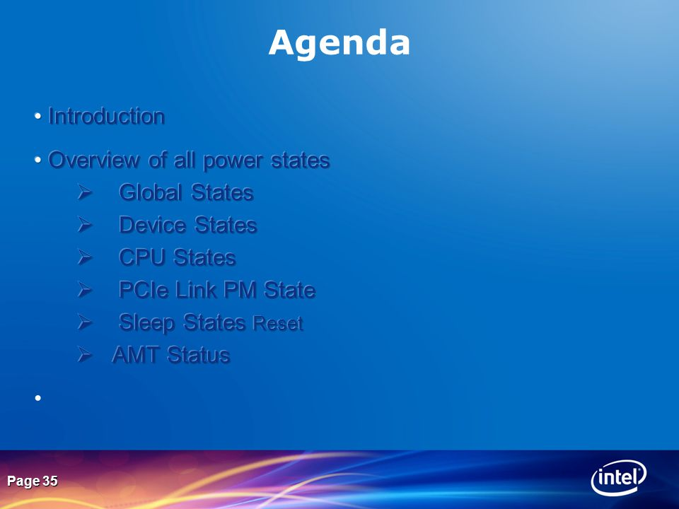 Page 35 Agenda