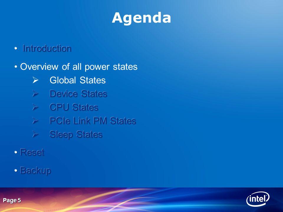 Page 5 Agenda