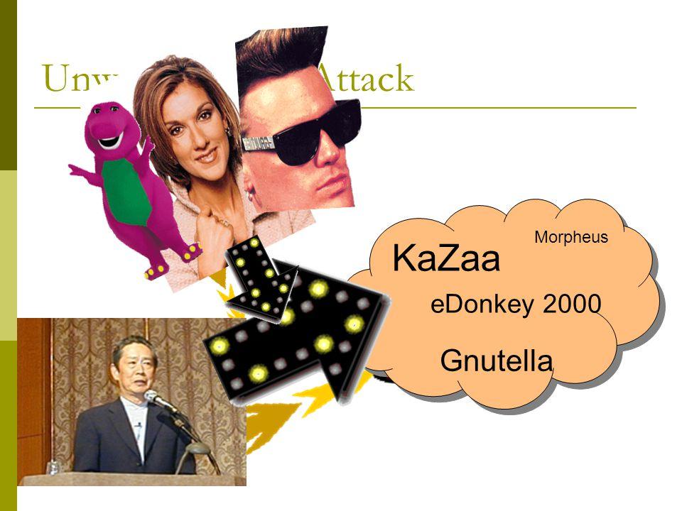 Unwanted Data Attack KaZaa eDonkey 2000 Gnutella Morpheus
