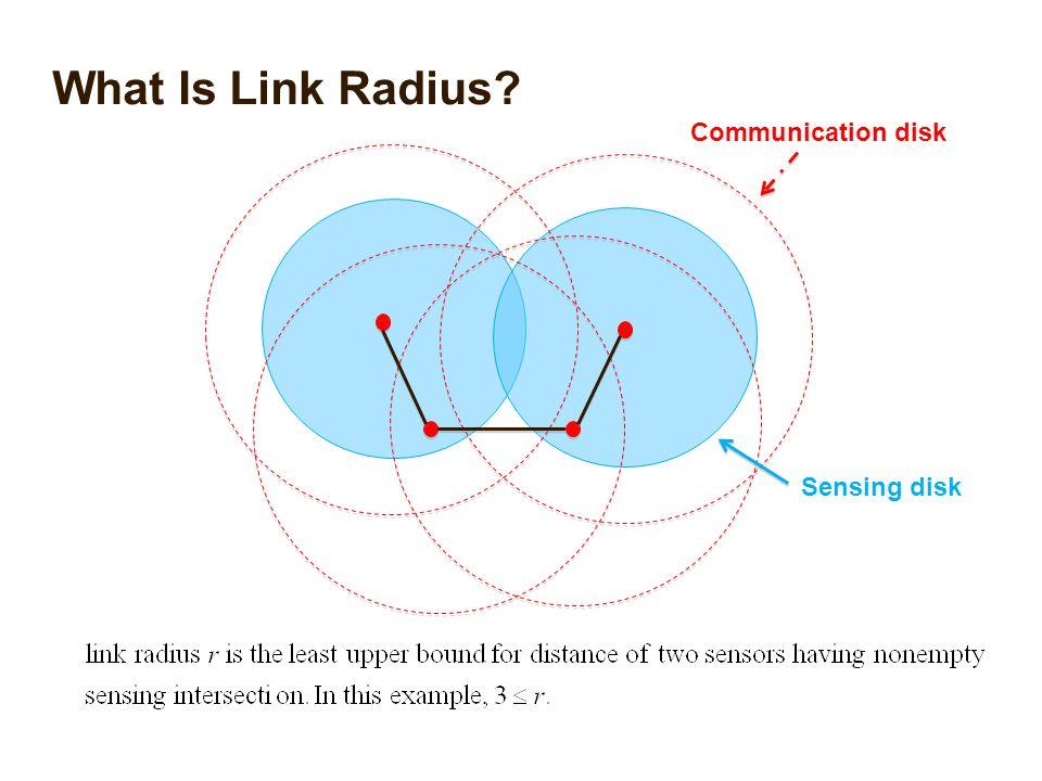 What Is Link Radius? Communication disk Sensing disk