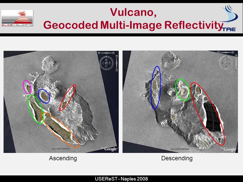 USEReST - Naples 2008 Vulcano, Geocoded Multi-Image Reflectivity DescendingAscending