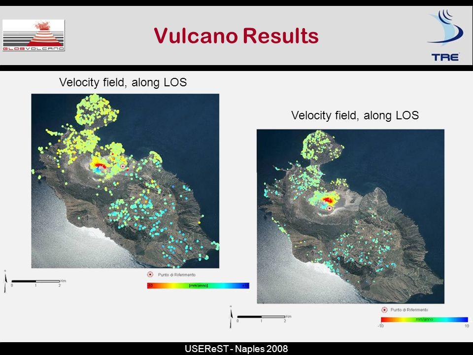 USEReST - Naples 2008 Vulcano Results Velocity field, along LOS