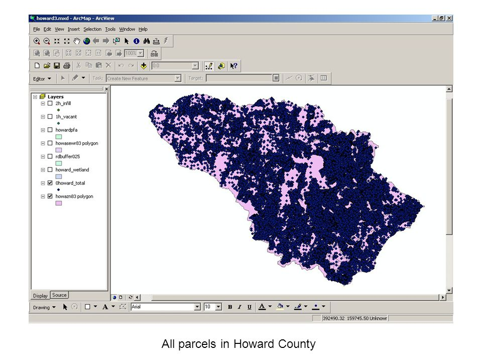 All parcels in Howard County