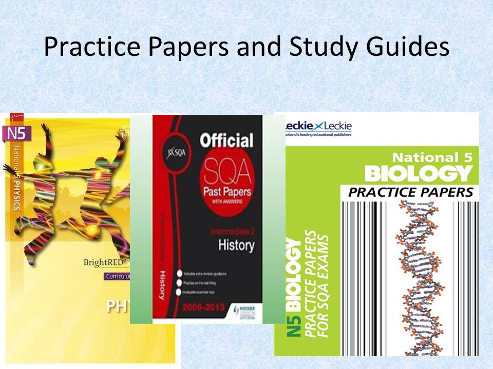 Practice Papers and Study Guides