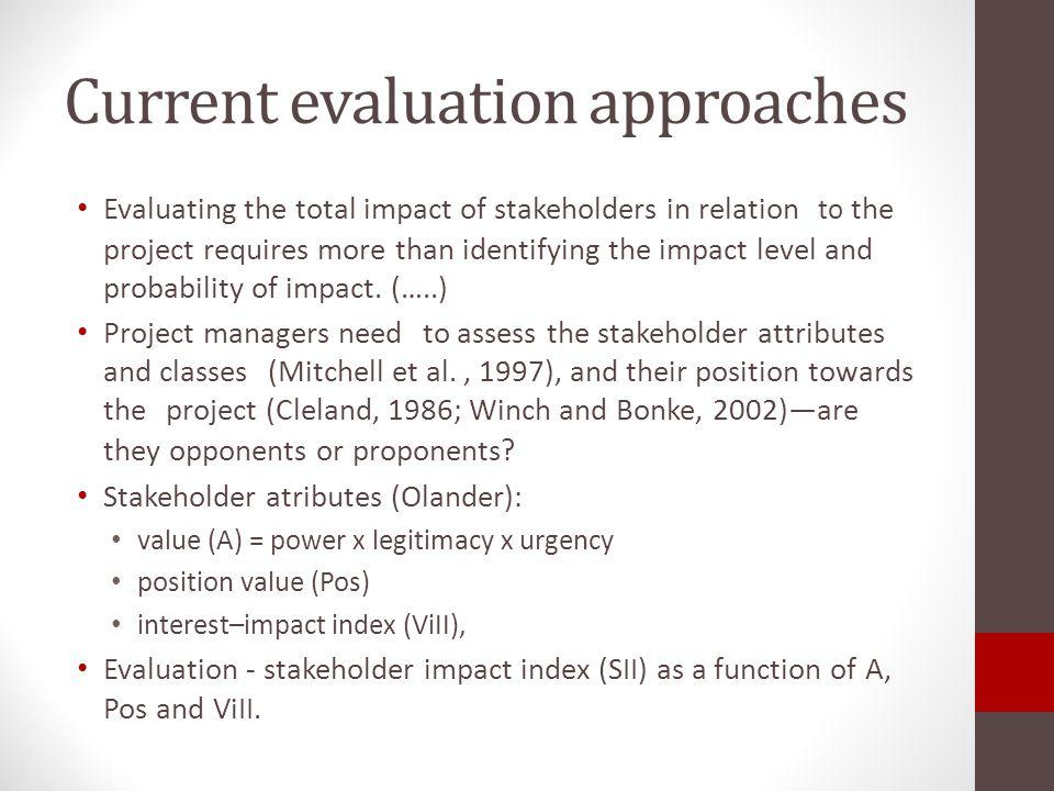 Stakeholder measurements