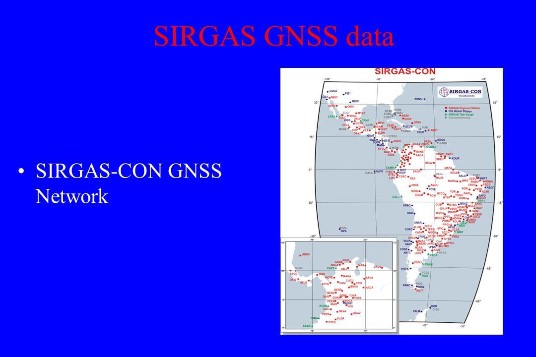 SIRGAS GNSS data SIRGAS-CON GNSS Network