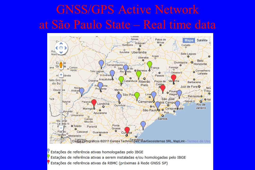GNSS/GPS Active Network at São Paulo State – Real time data
