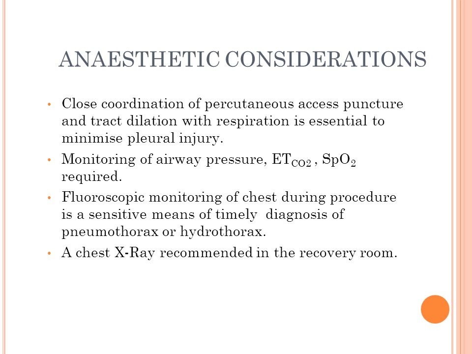 ANAESTHETIC CONSIDERATIONS Acute anemia due to blood loss or hemodilution.