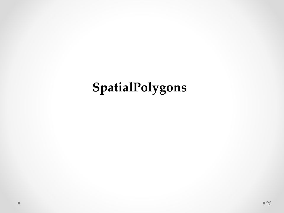 20 SpatialPolygons