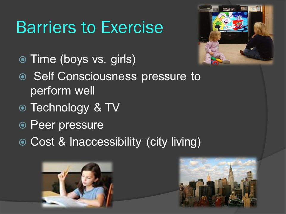 Barriers to Exercise  Time (boys vs.