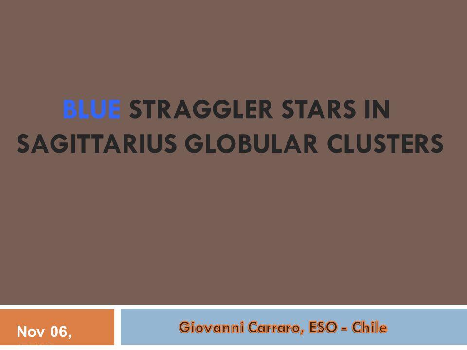 BLUE STRAGGLER STARS IN SAGITTARIUS GLOBULAR CLUSTERS Nov 06, 2012