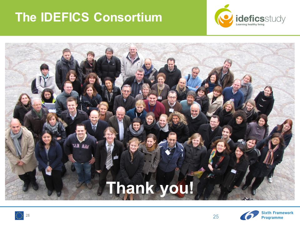 25 The IDEFICS Consortium Thank you!