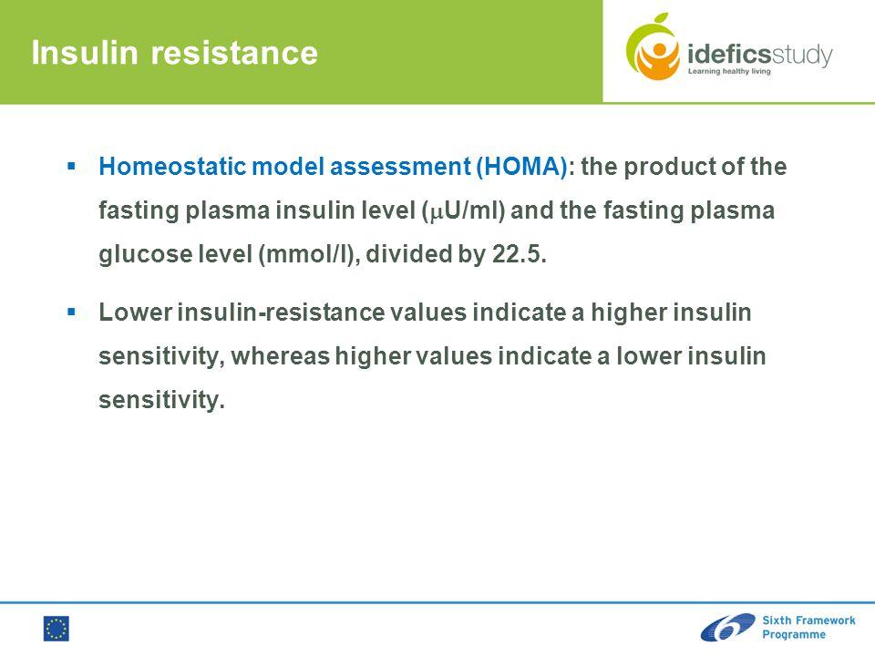 Luis A. More no Azna r lmore no@ uniza r.es GEN UD Rese arch Grou p Univ ersid ad de Zara goza Insulin resistance  Homeostatic model assessment (HOMA
