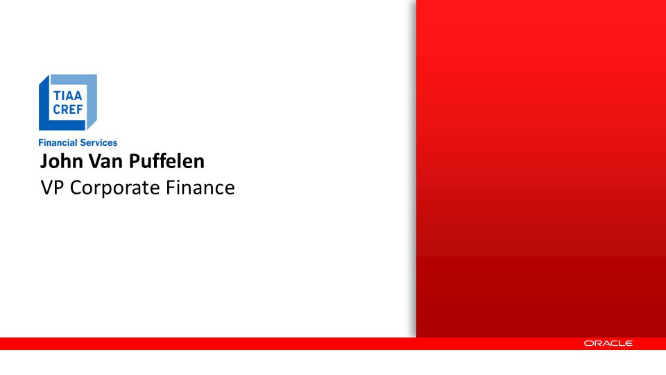 John Van Puffelen VP Corporate Finance