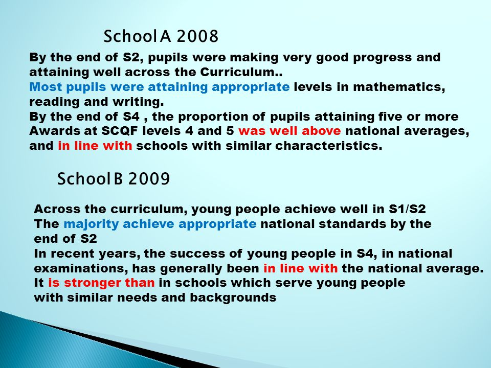 By the end of S2, pupils were making very good progress and attaining well across the Curriculum..
