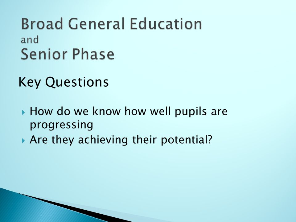  How do we know how well pupils are progressing  Are they achieving their potential.