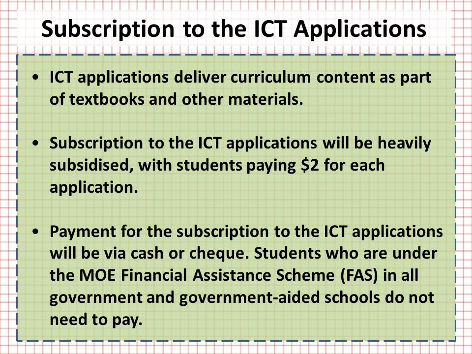 ICT applications deliver curriculum content as part of textbooks and other materials.