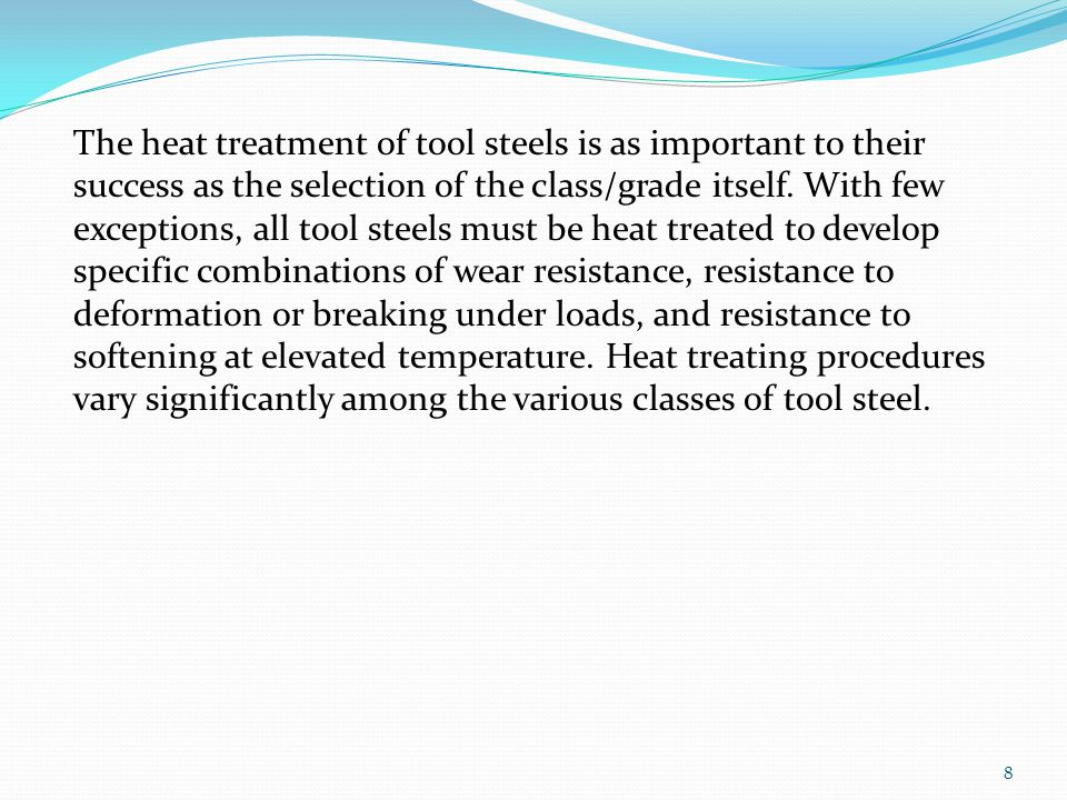 19 Oil –Hardening Cold – Work Tool Steels( O-Steels)