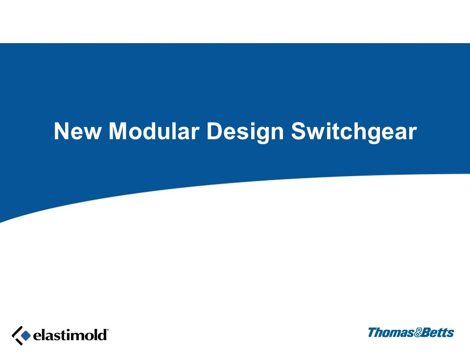 New Modular Design Switchgear